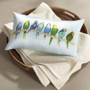 🆕West Elm Silk Parakeet Pillow Cover